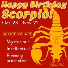 Happy Birthday Scorpio Zodiac Art Capricorn And Cancer Men