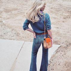 70s denim on denim_chloe drew bag