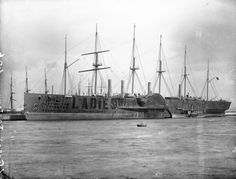 SS Great Eastern was an iron sailing steam ship designed by Isambard Kingdom Brunel. Launched in her size was not surpassed until Carries the distinction of laying the transatlantic telegraph cable from Europe to the US. Merchant Navy, Merchant Marine, Isambard Kingdom Brunel, Isle Of Dogs, Paddle Boat, Tall Ships, Water Crafts, Portsmouth, Old Photos