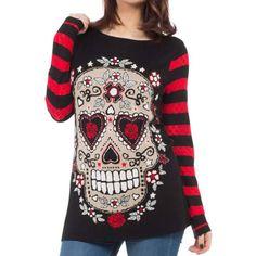 Skull Sewn Handmade Sweater