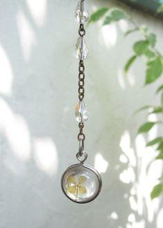 Four Leaf Clover Assemblage Necklace / Vintage by hollyglimmer