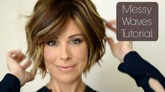 Messy Chic Holiday Hair Tutorial - YouTube