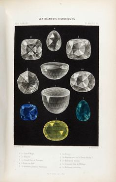 Simonin, Louis Laurent (1869)  http://www.pinterest.com/search/pins/?q=gemstone%20drawings&term_meta%5B%5D=gemstone%7Ctyped&term_meta%5B%5D=drawings%7Ctyped  superior rendering techniques that showcase the facet cuts