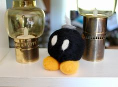 Needle-Felted Bob-omb Mario Superpower Cute Kawaii Cosplay Video Game Plush