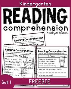 FREE Reading comprehension passages - great for kindergarten or beginning readers!