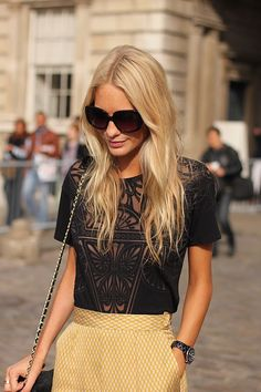 Love anything art deco inspired or with sheer detailing like this top...I really really like this.