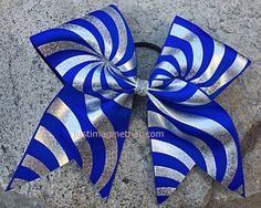 3 Width Cheer Bow 7x7 Texas Size Cheer Bow by JustImagineThatBows