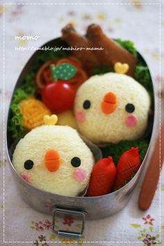 Chick bread bento
