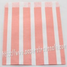 Pink Vertical Striped Paper Favor Bags http://www.paperstrawssale.com/pink-vertical-striped-paper-favor-bags-400pcs-p-547.html