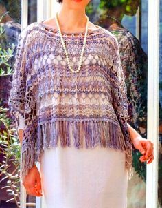 Stylish Easy Crochet: Crochet Pattern Of Poncho - Mexican style