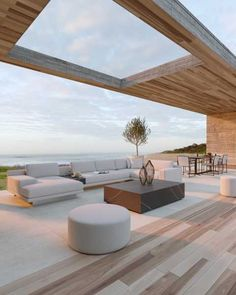 Outdoor Pouf, Outdoor Dining Chairs, Outdoor Seating, Outdoor Living, Outdoor Furniture, Dream Home Design, My Dream Home, Home Interior Design, Villa
