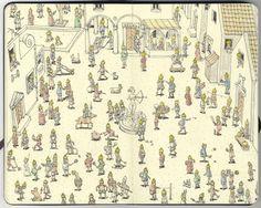 Sketchbook Drawings - Những bức phác họa trên giấy cực ấn tượng của Mattias Adolfsson | Diễn đàn Designer Việt Nam