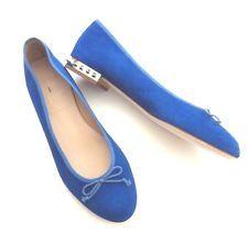 e9630bf4427e New J. CREW KIKI SUEDE STUDDED-HEEL BALLET FLATS 05232  178 BLUE No Box