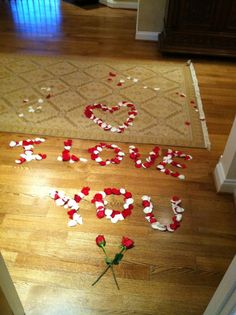 omg so cute! i would probably ball my eyes out if my boyfriend/husband did this for me!