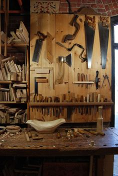tool storage for 18th Century Joiners Shop