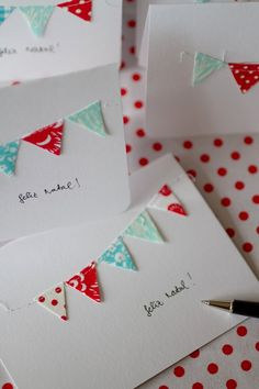 Handmade Christmas Cards... Cute!