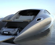 "luxury yacht comes with ""super car""and stupid idea comes with Luxury because you need a licence plate to drive that car in certain countries yeah!"