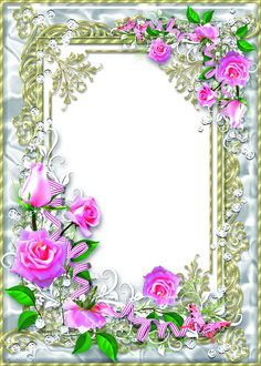 Delicate floral frame psd with pink roses - My Darling, delicate flower Pink Blossom Tree, Foto Frame, Photo Frame Design, Photo Layers, Borders And Frames, Rose Wallpaper, Floral Border, Flower Frame, Pink Roses
