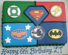 Justice League cake for my son ~ ♥