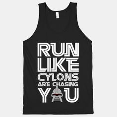 Run Like Cylons Are Chasing You - HUMAN (XL)