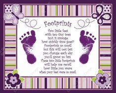 sugar plum baby 039 s footprint with poem