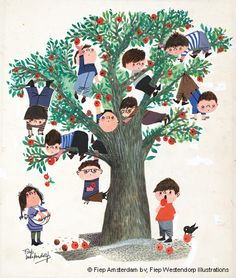 Poster Apple Tree, 42 x cm Art And Illustration, Character Illustration, Buch Design, Art Design, Conte, Illustrators, Creative Art, Art For Kids, Book Art