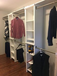 Organize any room in your living space with the selection of this excellent ClosetMaid Impressions Dark Cherry Laminate Narrow Closet System Kit. Diy Walk In Closet, Narrow Closet, Closet Redo, Bedroom Closet Design, Simple Closet, Small Closets, Closet Designs, Closet Ideas, Master Bedroom