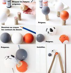 Des idées 12 idées de DIY pour customiser les poignées d'un meuble et le rendre plus joli Idee Diy, Embellishments, Kids Room, Crafts For Kids, My Favorite Things, Gaspard, Handmade, Charlotte, Images