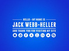Incredible blue gradient on a VIRTUAL BUSINESS CARD. Brilliant.