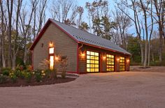 Farmhouse Garage And Shed by John Gehri Zerrer - ultimate workshop. Many interior photos.