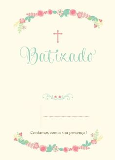 modelo de convite de batismo