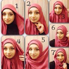 Hijab tutorial with folds