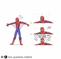 """511 Likes, 2 Comments - @spider__flash on Instagram: """"Credit to @tom_quackson_holland #spiderman #peterparker #tomholland #movie #fanart…"""""""