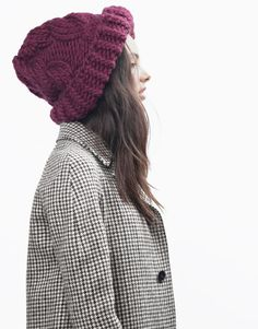 Moonhead Beanie by Wool and the Gang #knit #knitting #hat #oversized