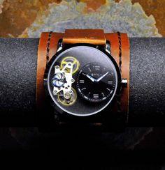 Men's Open Heart Watch - SALE - Worldwide COMPLIMENTARY Shipping - Mechanical Steampunk Watch