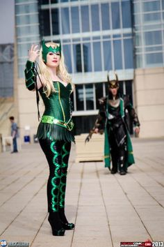 Characters: The Enchantress (Amora) & Loki / From: MARVEL Comics 'The Mighty Thor' / Cosplayers: Unknown