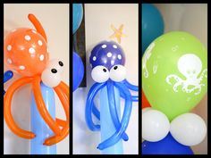 Photo 3 of Under the Sea with the Octonauts / Birthday & Birthday Party& 4th Birthday Parties, Birthday Fun, Birthday Balloons, Birthday Ideas, Octonauts Party, Party Time, Decoration, Balloon Crafts, Balloon Ideas