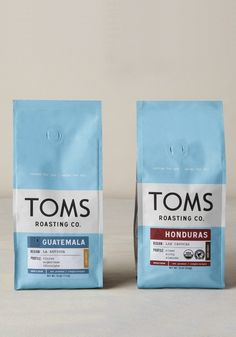 With every bag of coffee you purchase, TOMS will give one week of clean water to a person in need. Honduras, Toms One For One, People In Need, Coffee Packaging, Yummy Drinks, Yummy Food, Children In Need, Iced Coffee, Branding