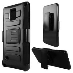 Insten Advanced Armor Dual Layer Hybrid Stand Rubberized Hard PC/ Silicone Holster Phone Case Cover For Samsung Galaxy Note 4