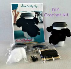 Black Lab Crochet Kit/Dog Crochet Kit/DIY Crochet Kit/Amigurumi Kit/Crochet Pattern/Amigurumi Kit/HookedbyAngel