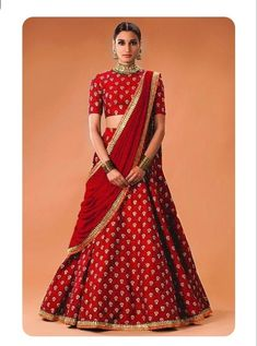 Women s Clothing - Bollywood Replica - Wedding Wear Red Lehenga Choli - WCRed - PRODUCT Details : Style : Semi-Stitched Bollywood Inspired Lehenga Choli / Part Indian Lehenga, Lehenga Sari, Lehenga Style, Lehnga Dress, Brocade Lehenga, Sabyasachi, Gown, Lehenga Choli Designs, Ghagra Choli