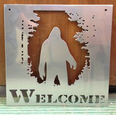 Welcome Sign Big Foot by customvalleygraphics on Etsy, $45.00
