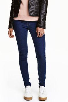Super Skinny Regular Jeans - Dark denim blue - Ladies | H&M GB