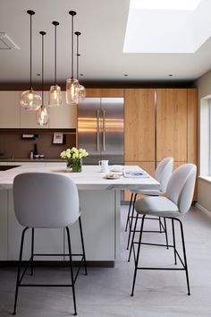 Pick-n-Mix - Rothschild & Bickers - Glass pendant lighting Kitchen Pendant Lighting, Kitchen Pendants, Glass Pendant Light, Glass Pendants, Living Room Kitchen, Dining Room, Kitchen Ideas, Kitchen Design, Apartment Lighting