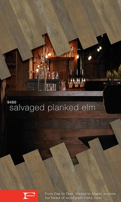 Formica® Laminate 9480 Salvaged Planked Elm