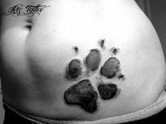 L'impronta della zampa del proprio cane