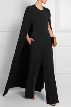 Stella McCartney Cape-back crepe jumpsuit - absolutely gorgeous!