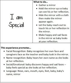 At play with baby: I am special | Teach Preschool