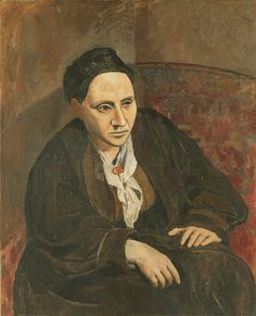 """Picasso portrait of Gertrude Stein. Portrait of Gertrude Stein, Metropolitan Museum of Art, New York City. When someone commented that Stein did not look like her portrait, Picasso replied, """"She will"""" Pablo Picasso, Kunst Picasso, Art Picasso, Picasso Paintings, Picasso Style, Artwork Paintings, Painting Art, Henri Matisse, Metropolitan Museum"""