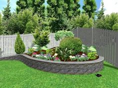 Elegant Corner Landscaping Ideas Small Backyard Landscaping Ideas Corner Garden With Round Bricks - Landscaping can make a huge difference to your house. Small Vegetable Gardens, Small Backyard Gardens, Small Gardens, Small Backyards, Garden Spaces, Outdoor Gardens, Small Backyard Landscaping, Backyard Garden Design, Front Yard Landscaping